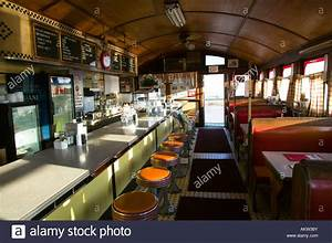 Interior of Vintage Diner Restaurant Stock Photo - Alamy