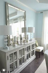 dining room update vertical vs horizontal buffet mirror With what kind of paint to use on kitchen cabinets for gold mirror wall art