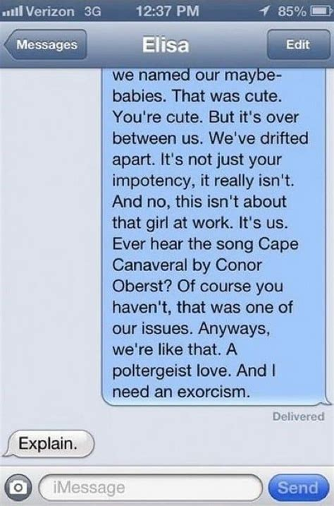 awesome breakup texts