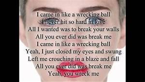 Miley Cyrus-Wrecking Ball Lyrics - YouTube