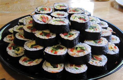 korean sushi thirty days without cheese kimbap korean sushi