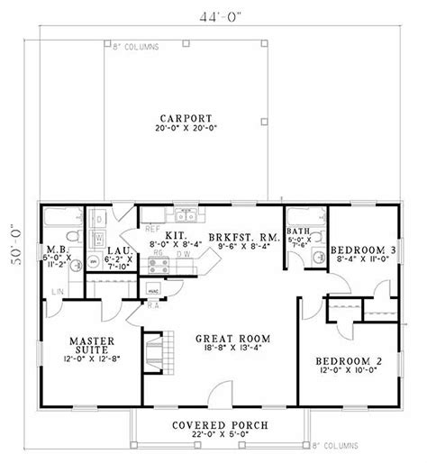 Simple One Floor House Design Placement by Traditional Style House Plan 3 Beds 2 00 Baths 1100 Sq