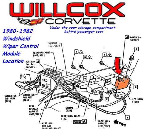 Corvette Windshield Wiper Control Module