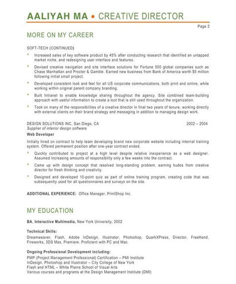 It Pm Resume by Designer Resume Sles A Collection Of Ideas To Try