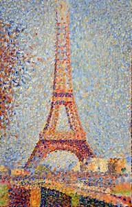 georges seurat eiffel tower 1889 at the legion of honor
