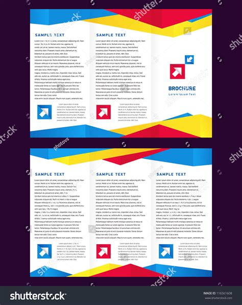 Abstract Colorful Brochure Design Template Vector Tri Fold Creative Design Vector Brochure Trifold Layout Stock