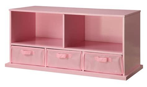 badger basket storage badger basket 90811 shelf storage cubby with 3 baskets pink 1449