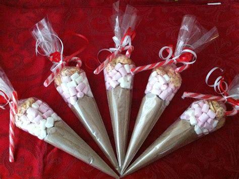 christmas hot chocolate cones  candy cane stirrer
