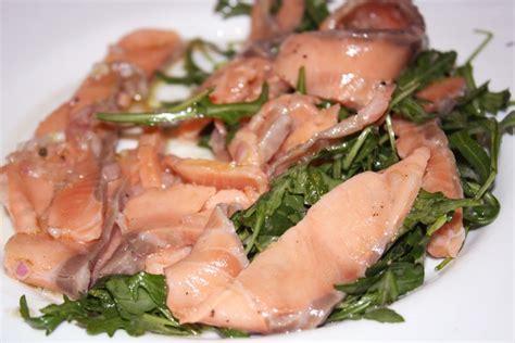 carpaccio de saumon et sa salade blogs de cuisine