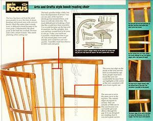 Arts and Crafts Reading Chair Plans • WoodArchivist