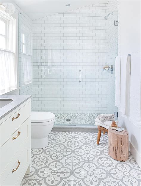 White Bathroom Flooring by House Tour Modern Eclectic Family Home In 2019 Cement