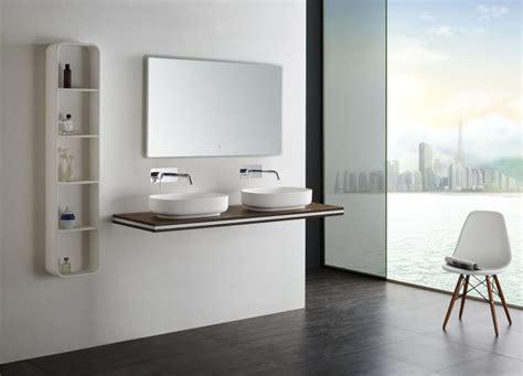 console vasque 224 suspendre en mdf smart line marron largeur s 233 lectionnable