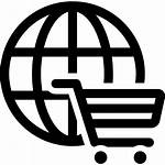 Shopping Icon Commerce Cart Ecommerce Circular Global