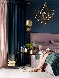 Bedroom, Ideas, Pink, Dark, Navy, Blue, Teal, And, Gold