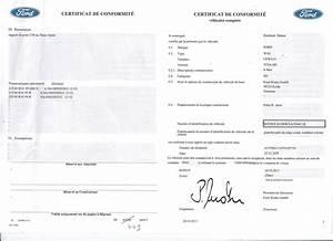 Certificat De Conformité Mercedes : certificat de conformit europ en c o c ford certificat de conformit fran ais c o c auto et ~ Gottalentnigeria.com Avis de Voitures
