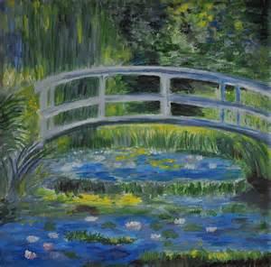 Monet Bridge Painting