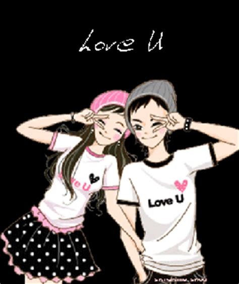 anime korean couple bacotan si dilacious cute animated couple cartoon