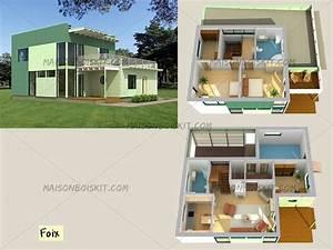 plan maison bois contemporaine ventana blog With maison bois toit plat 3 plan maison 224 etage et 224 toit plat ooreka