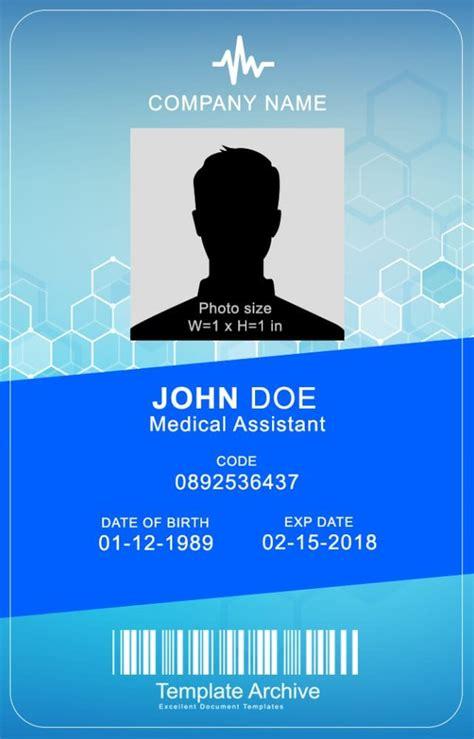id card template word blendu