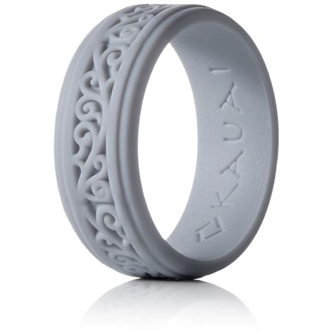 kauai silicone rings comfortable engagement wedding marriage bands for