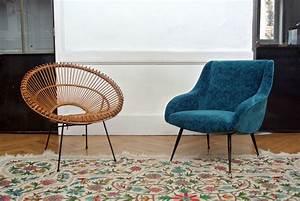 Fauteuil Années 50 : fauteuil italien ann es 50 ~ Dallasstarsshop.com Idées de Décoration