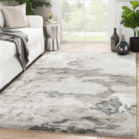 shop mudra handmade abstract gray silver area rug