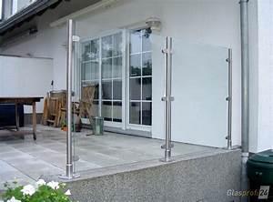 Windschutz Glas Terrasse : glaszaun transvent als sichtschutz im garten glasprofi24 ~ Whattoseeinmadrid.com Haus und Dekorationen