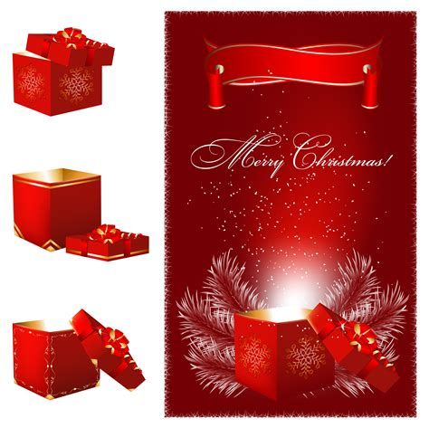gorgeous christmas gift vector free vector 4vector