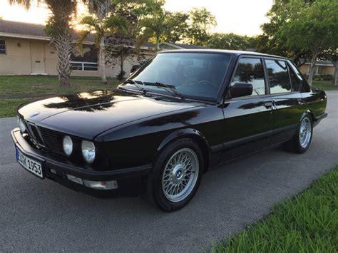 Bmw 5-series Sedan 1987 Black For Sale. Wbadc7401h1716257