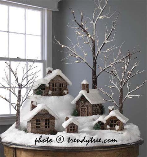 diy christmas cardboard putz houses gifts  friends
