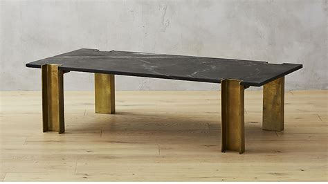 Alcide Black Marble Coffee Table + Reviews Cb2