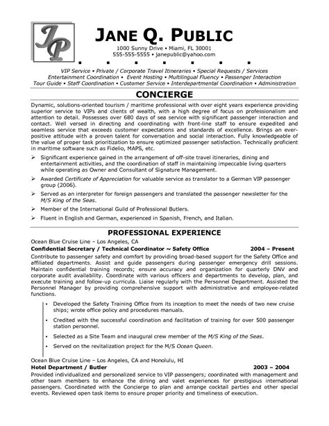 Resume Guide by Tour Guides Resume Sle Http Www Resumecareer Info