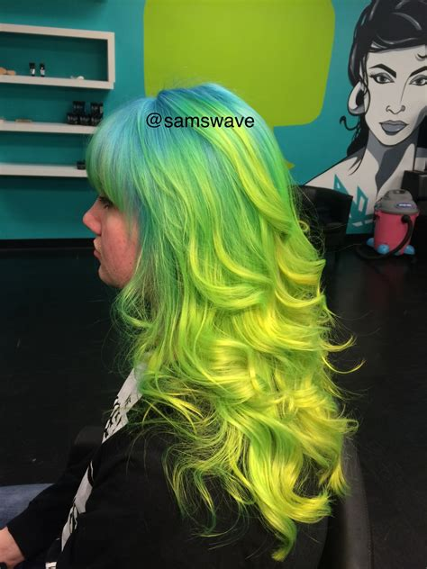 Northern Lights Inspired Ombre Hair Colors Ideas