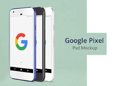 Google pixel 4 mockup with a clear view of the camera and the screen that can be used for websites and applications with branding designs and online posts. Google Pixel Free PSD Mockup