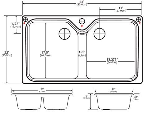 standard double sink size sinks 2017 standard size kitchen sink ideas single bowl