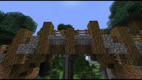 build  wooden bridge  minecraft plans diy