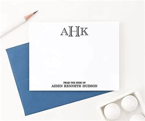 Then from the desk of your letterhead will be filled with various words and several paragraphs. Amazon.com: From the Desk of Stationary Set, Monogrammed Stationery Set, Personalized Monogram ...