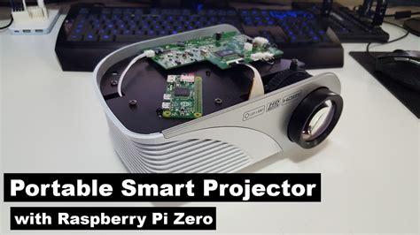 diy cheap portable smart projector  raspberry pi
