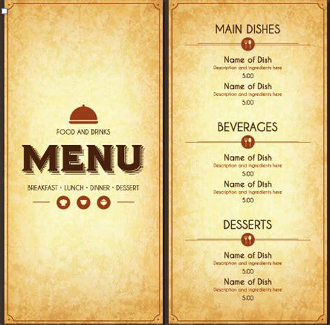 cuisine menu list modern restaurant menu cover and list vector free vector