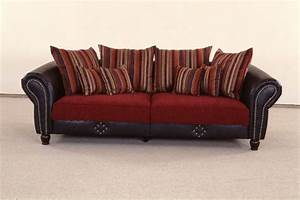 Sofa Große Liegefläche : big sofa carlos dunkelrot dunkel grau sb m bel discount ~ Indierocktalk.com Haus und Dekorationen