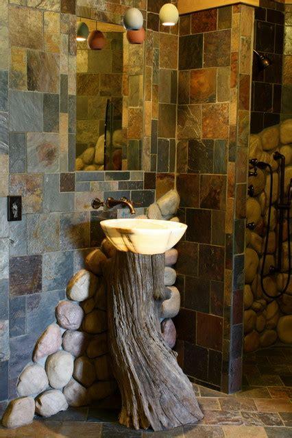 onyx sink on tree stump modern bathroom vanities and
