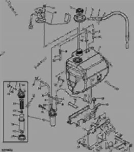 Fuel Tank - Tractor  Compact Utility John Deere 2305 - Tractor  Compact Utility
