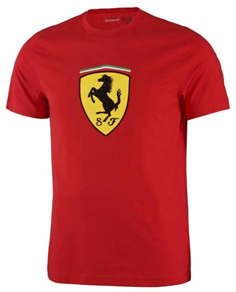 ferrari clothing ferrari red classic shield tee shirt fb4113