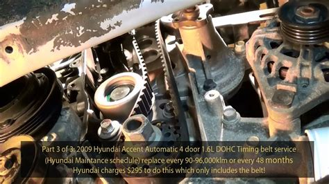 Hyundai Engine Diagram Of 1 6l by 2009 Hyundai Accent 1 6l Gls Dohc Timing Belt Service Part