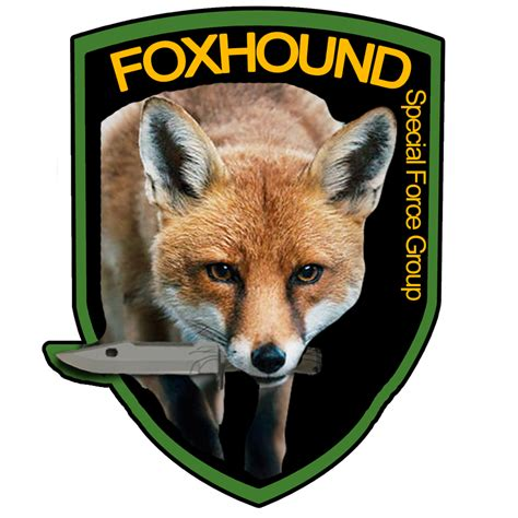 realistic foxhound logo  pulled  metalgearsolid