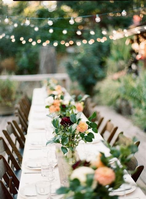 wedding table decorations for outside best 25 outdoor wedding tables ideas on outdoor wedding lights table scapes and