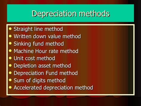 define sinking fund method of depreciation depreciation