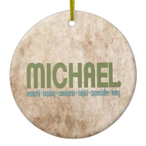 michael name meaning christmas tree ornament zazzle