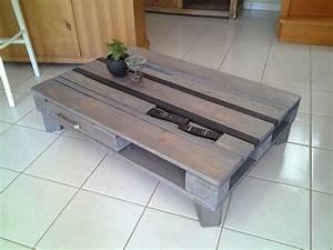 Table Basse Palettes : table basse en palette europe gris atelier salons ~ Melissatoandfro.com Idées de Décoration