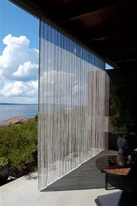 Outdoor stainless steel curtain industrial patio for Outdoor balcony curtains